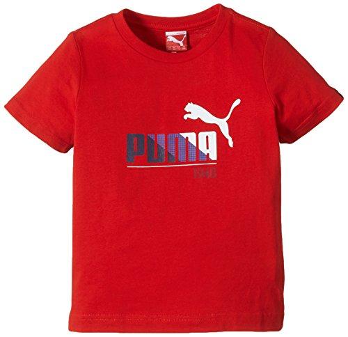 Puma - Camiseta de running para niño puma rojo