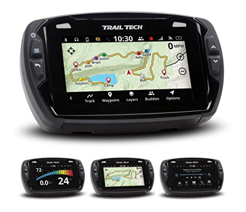 Trail Tech 922-116 Voyager Pro GPS Kit with Digital Gauge Trail Maps 4-Inch TFT LCD Touch Screen, Buddy Tracking, Handsfree Bluetooth ()