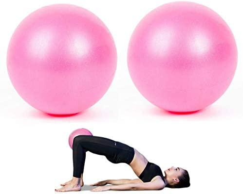 AOAVE 2 Pack Pilates Ball, Yoga Ball, Barre Ball, Mini Exercise Ball, 9 Inch Small Bender Ball, Pilates, Yoga, Core Training and Physical Therapy, Improves Balance