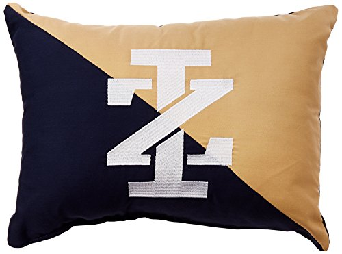 IZOD Diagonal Embroidery Navy/Khaki Decorative Pillow by IZOD