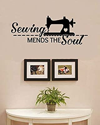 Sewing mends the soul Vinyl Wall Art Decal Sticker