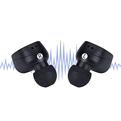 HOT SKY Automatic Turn On and Pair Earphones Bluetooth Wireless True Wireless Bluetooth Earphones with microphone Ear Buds Sweatproof Wireless Earphones with mic and Charging Case BS209FD-R