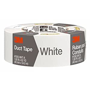 Scotch Duct Tape, White, 1.88-Inch by 60-Yard