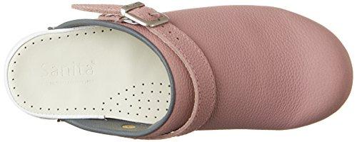 Sanita Edna Open, Zuecos para Mujer Pink (Rose/Grey)