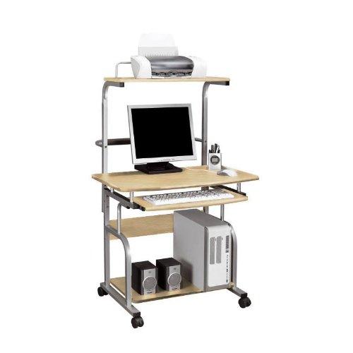 21 opinioni per SixBros. Office- Scrivania porta pc con ruote acero- CT-7800/1298- MDF colore