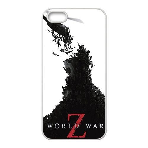 World War Z 3 coque iPhone 4 4S cellulaire cas coque de téléphone cas blanche couverture de téléphone portable EOKXLLNCD20793