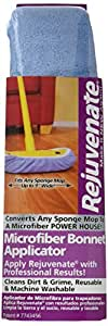 Rejuvenate Microfiber Bonnet Applicator Pad Fits Standard 9 Inch Sponge Mop Head Washable 2 Pack