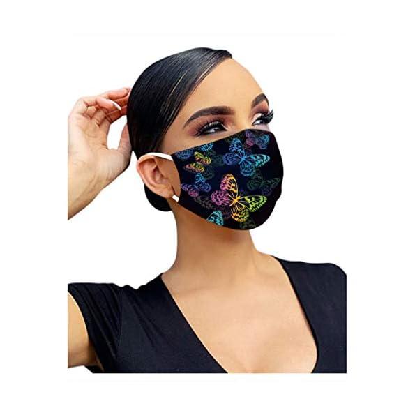 YINGXIONG-50-Stck-SchwarzRosaLila-Einmal-Mundschutz-Mundbedeckung-Erwachsene-3-lagig-Atmungsaktiv-Mund-und-Nasenschutz-Einweg-Baumwolle-Bandana-Bedeckung-Halstuch