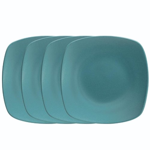 Noritake 6-1/2-Inch Colorwave Quad Plate, Mini, Turquoise Blue, Set of 4