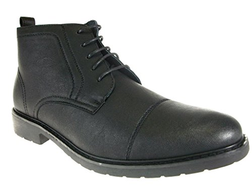 Polar Matt 582 Ankle Boots Fox Mens Toe High Cap Chukka Black wwOUrqn