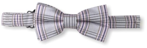 American Exchange Big Boys' Plad Print Bowtie, Gray, One Size