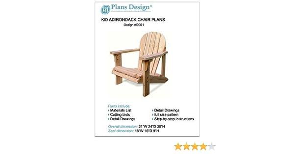Fantastic Child Adirondack Chair Woodworking Plans Full Sized Patterns Odf21 Machost Co Dining Chair Design Ideas Machostcouk