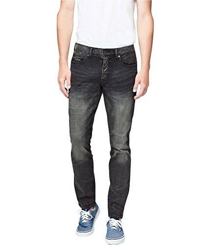 Aeropostale Mens Faded Stretch Jeans, Black, 30W x 30L
