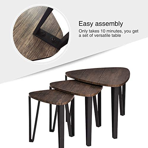 home, kitchen, furniture, living room furniture, tables,  living room table sets 6 discount Industrial Nesting-Tables Living Room Coffee Table Sets promotion
