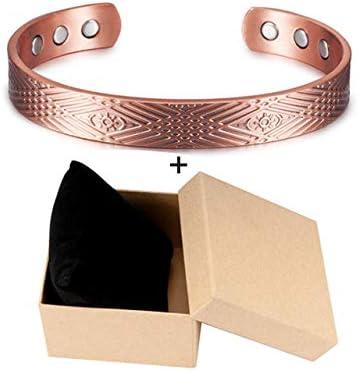 GUANGUA Armband aus reinem Kupfer, verstellbares Magnetarmband, männliches Magnetarmband aus Kupfer, weibliches Magnetarmband