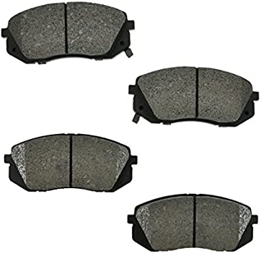 Front Ceramic Disc Brake Pads Set Kit Fits Tucson Kia Rondo Sportage NEW