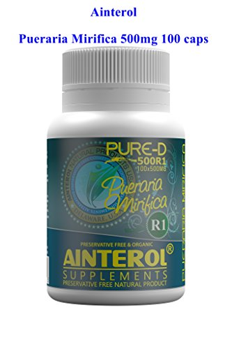 Ainterol Pueraria Mirifica 500mg Pure-D R1 Capsules 100% New Stronger Strain - Grown in (Curve Silicone Case)