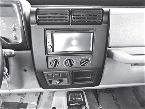 Metra 95-6549 Double DIN Dash Kit for Select Jeep Wrangler 1997-2002