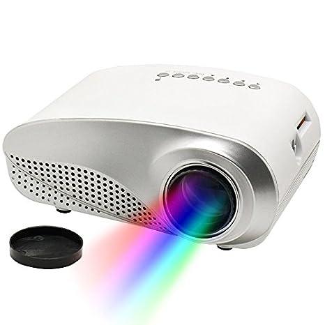 wohoo HD Mini proyector LED Pantalla 1000: 1 contraste con 480 x ...