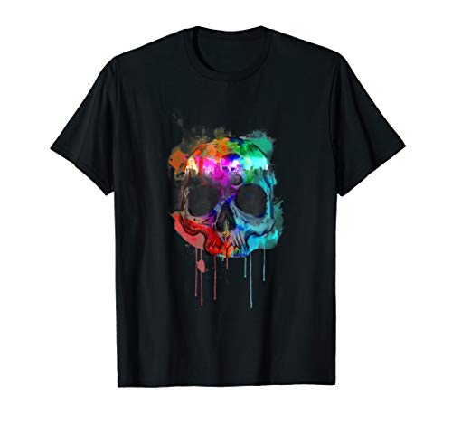 Group Halloween Costume T Shirt Cool Skull Head Skeleton Fun ()