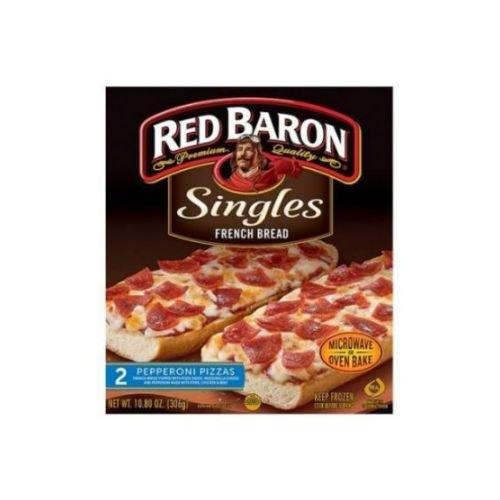 Red Baron French Bread Singles Pepperoni Pizza, 10.8 Ounce -- 12 per case.