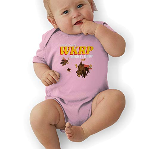 - Hhyingb First Annual WKRP Baby Funny Jersey Short Sleeve Bodysuit 6M Pink