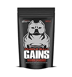Muscle Bully Gains - Mass Weight Gainer for Bully Breeds (45 Serving)