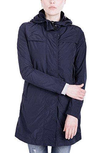 Parajumpers Damen Long Parka in Blue Black - Leichter Parka Mantel Kurzmantel Sommer, Dunkelblau