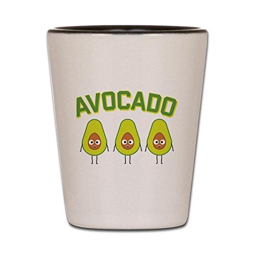 Avocado Glass - CafePress - Avocado - Shot Glass, Unique and Funny Shot Glass