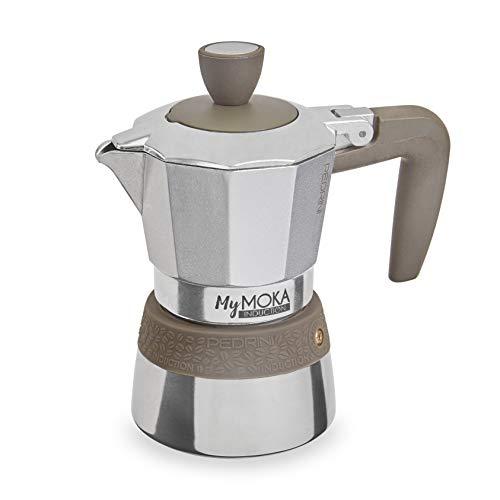 Pedrini MyMoka – Cafetera de inducción Inducción Mymoka 2 Tazze TóRTOLA