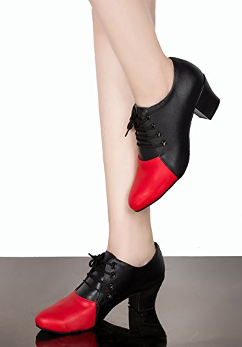 Zapatilla Joymod Baja Style2 Mujer Piel 4cm Vuelta MGM Heel de Red Black qB6xdw65