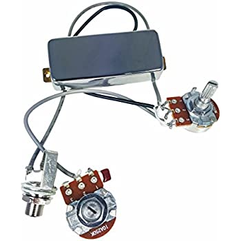soapbar p 90 guitar pickup harness pre wired with volume tone pots no soldering. Black Bedroom Furniture Sets. Home Design Ideas