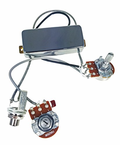 Chrome Snake Oil Humbucker Pre-Wired Pickup Harness with Volume & Tone Controls - No Soldering Required!