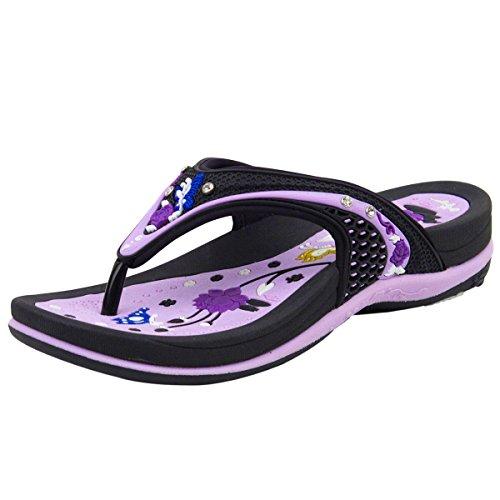 Chaussures Pigeon Or Gp Signature Femmes Confort Sandales (taille 5-9.5) 5893-violet