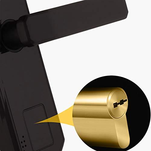 BLWX - Smart Door Lock-zinc Alloy-Indoor Wooden Door Fingerprint Lock Home Security Door Lock Smart Lock Password Lock Electronic Lock Office Rental Room Card-Size: 23.5X5.8cm Door Lock (Color : B) by BLWX-home renovation. Door lock (Image #3)