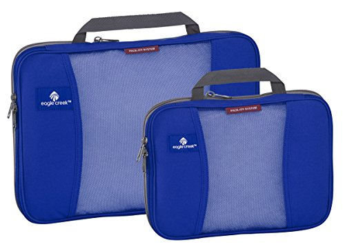 Travel Socks Zip It - Eagle Creek Travel Gear Pack-it Compression Cube Set, Blue Sea