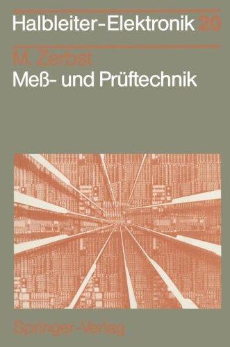Mess Und Pruftechnik Halbleiter Elektronik Band 20 Manfred
