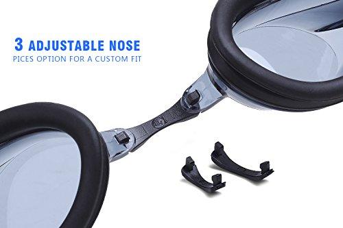 zeraca Gafas de natación con lentes antivaho para adultos y niños, de la marca, Negro: Amazon.es: Deportes y aire libre