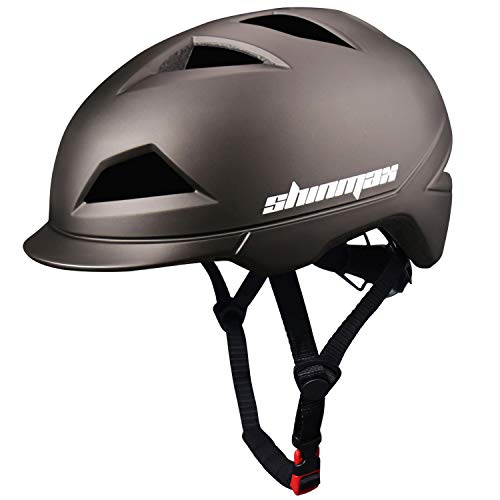 Shinmax Bike Helmet Adults Bicycle Helmet for Men Women with USB Rechargeable Light,Urban Commuter Cycling Helmet…