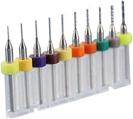 10個 マイクロ ドリルビット SMT CNC用 鋼鉄 PCB 炭化物 全5サイズ - PCB 1.1-2.0mm