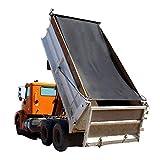 Tentproinc Dump Truck Mesh Tarp 8'X22' - Black Heavy Duty Cover with 6'' Pocket Reinforced Double Needle Stitch Webbing Ripping Tearing Stop, No Rust Thicker Brass Grommets - 3 Years Limited Warranty