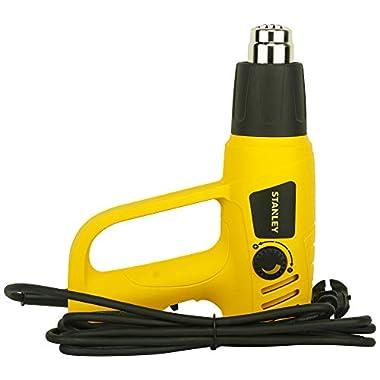 STANLEY STXH2000 2000W Variable Speed Heat Gun (Yellow and Black) 12
