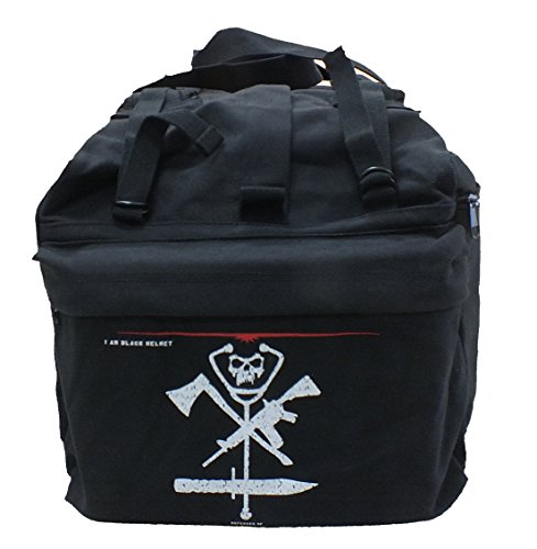 Black Helmet Firefighter Gear Bag Backpack (FIRE, POLICE, MILITARY, EMS)
