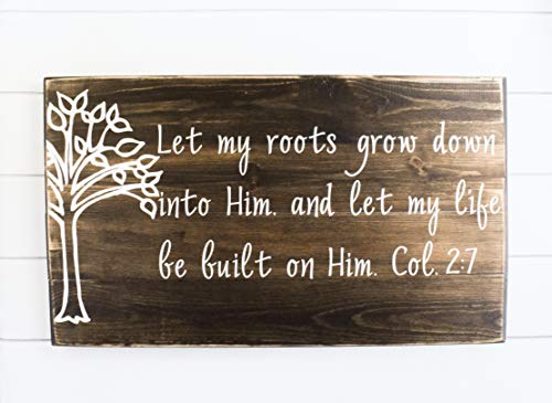 - Christian Wood Sign - Bible Verse Wall Art - Wood Wall Décor - Christian Wall Plaque