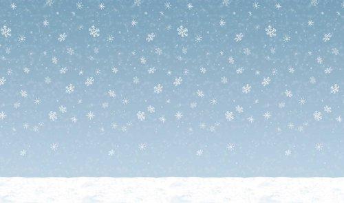 Winter Sky Backdrop Party Accessory (1 count) (1/Pkg) (Winter Wonderland Party Theme)