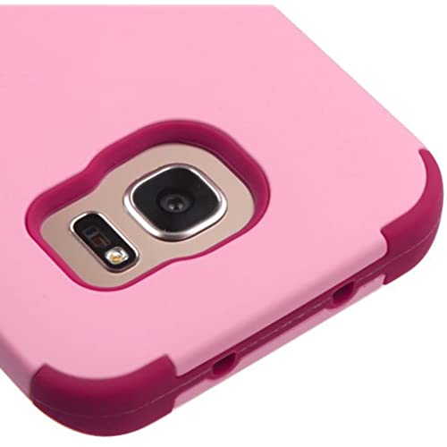 Samsung Galaxy S7 Edge G935 Case, Kaleidio [TUFF] Shockproof Hybrid Dual Layer Protective Cover [Includes a Overbrawn Prying Tool] [Soft Pink/Rose] Sales