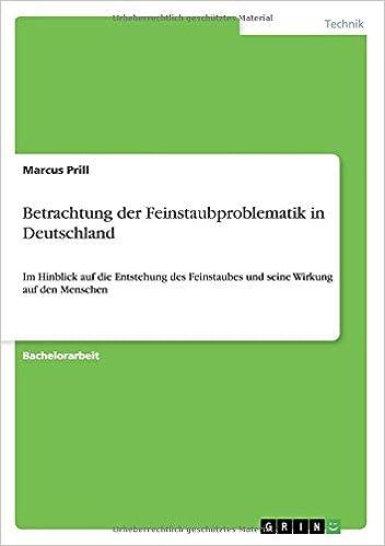 Book Betrachtung der Feinstaubproblematik in Deutschland