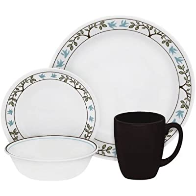 Click for Livingware Tree Bird 16 Piece Dinnerware Set, Microwave and dishwasher safe