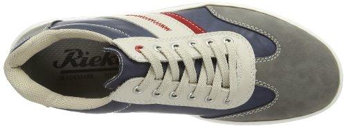 Rieker  19024 Herren Sneaker Grau (cement/ozean/champignon/rosso 40)