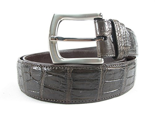 PELGIO Genuine Crocodile Alligator Double Belly Skin Leather Men's Belt 46